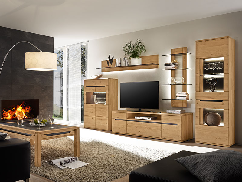 wohnzimmereinrichtung m bel wallach. Black Bedroom Furniture Sets. Home Design Ideas