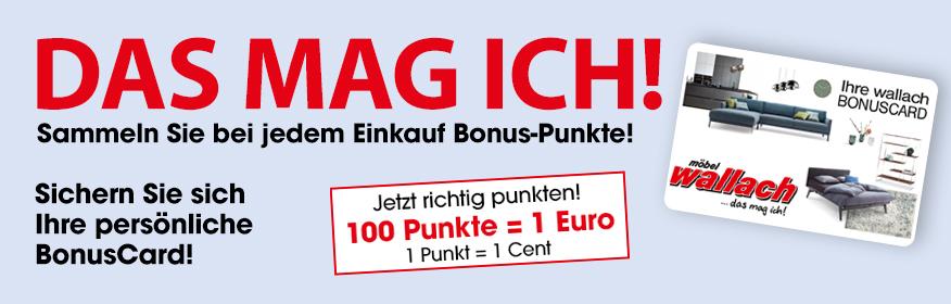 Bonuscard Möbel Wallach